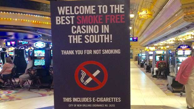 Harrah's New Orleans No Smoking Ban